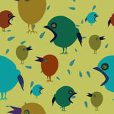 Colorful seamless background with birds Stock Photos