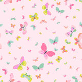 Colorful Seamless Background with Butterflies for Scrapbooking Stock Image