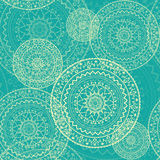 Colorful seamless background with circular ornaments in ethnic style. Royalty Free Stock Photos