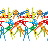 Colorful seamless background Clothes Peg. Vector. Royalty Free Stock Images