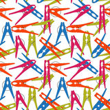 Colorful seamless background Clothes Peg. Vector Stock Photo