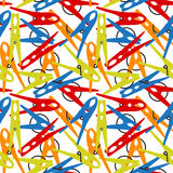 Colorful seamless background Clothes Peg. Vector. Royalty Free Stock Photos