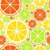 Colorful seamless background. Orange and lemon slices Stock Image