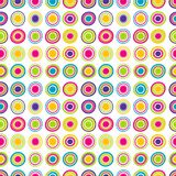 Colorful seamless background with round shapes. In rows Stock Photo