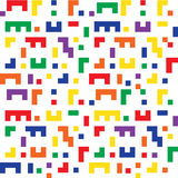 Colorful seamless background shapes similar to Tetris game Royalty Free Stock Images