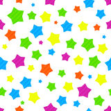 Colorful seamless background with stars Royalty Free Stock Photo