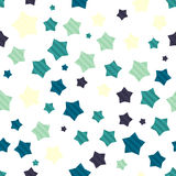 Colorful seamless background with stars Stock Photography