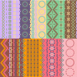 Colorful seamless backgrounds. Various colorful seamless backgrounds - scarf color Stock Images