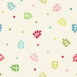 Colorful seamless branches background. Royalty Free Stock Image