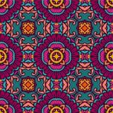 Colorful seamless ceramic tile design pattern background. flower mandala design surface. Flower retro multicolor art ethnic seamless design tiles . Festive vector illustration