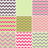 Colorful seamless chevron patterns vector illustration