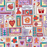Colorful seamless Christmas and New Year pattern Royalty Free Stock Photography