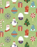 Colorful seamless Christmas pattern Stock Images