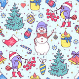 Colorful seamless christmas pattern Royalty Free Stock Photo