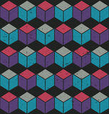 Colorful seamless cube pattern Stock Images