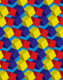Colorful seamless cube pattern. Illustration of a colorful seamless cube pattern Royalty Free Stock Photo