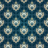 Colorful  seamless damask Royalty Free Stock Images