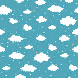 Colorful seamless decorative pattern with abstract clouds. Stock Image