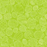 Colorful seamless easter pattern in doodle style. Hand drawn background - ornamental design.  Royalty Free Stock Image