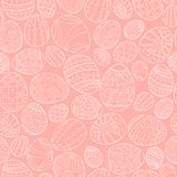 Colorful seamless easter pattern in doodle style. Hand drawn background - ornamental design.  Stock Photos
