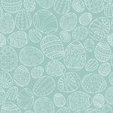 Colorful seamless easter pattern in doodle style. Hand drawn background - ornamental design.  Royalty Free Stock Photos