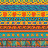 Colorful seamless ethnic pattern. Vector illustration Royalty Free Stock Photography