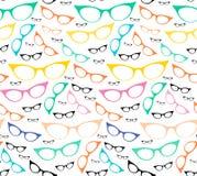 Colorful seamless eyeglasses pattern Stock Photos