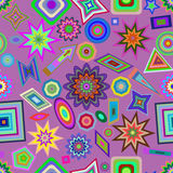 Colorful seamless figures pattern. Stock Photo
