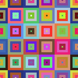 Colorful seamless figures pattern. Colorful squares seamless figures pattern. EPS 8 vector illustration Stock Images