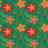 Colorful seamless floral ornament Stock Images