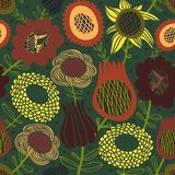 Colorful seamless floral pattern Stock Photos