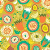 Colorful seamless floral pattern. This is file of EPS8 format Royalty Free Stock Photo