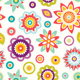 Colorful seamless floral pattern vector illustration