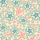Colorful seamless floral pattern made Stock Photo