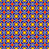 Colorful Seamless Geometric Pattern. Floor tiles pattern reminding of tropical summer breeze Royalty Free Stock Photo
