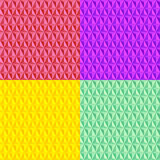 Colorful seamless geometric pattern collection Royalty Free Stock Photography