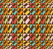Colorful seamless geometric pattern - vector. Colorful seamless pattern illustration, with retro colors, vector formatt available Stock Photos