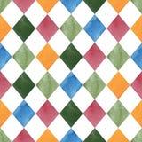 Colorful Seamless geometric tile pattern royalty free stock photos