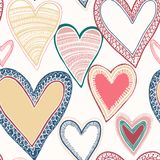 Colorful seamless heart pattern Royalty Free Stock Images