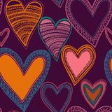 Colorful seamless heart pattern Royalty Free Stock Photography