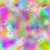 Colorful Seamless Lights. Abstract colorful blur fun background with soft circle spots of bokeh lights. Seamless tile vector illustration
