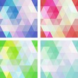 Colorful seamless mosaic geometric pattern with modern gradients Stock Photography