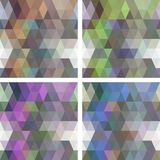 Colorful seamless mosaic geometric pattern with modern gradients Royalty Free Stock Image
