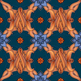 Colorful seamless ornamental pattern background Royalty Free Stock Photography