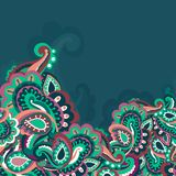 Colorful seamless paisley background. This is file of EPS8 format Stock Image