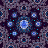 Colorful seamless paisley lace background. Royalty Free Stock Photography