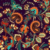 Colorful seamless Paisley pattern. Decorative indian ornament. Floral wallpaper. Colorful seamless Paisley pattern. Decorative indian ornament vector illustration