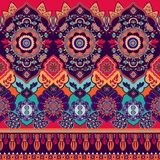 Colorful seamless Paisley pattern. Decorative indian ornament. Ornamental wallpaper. Colorful seamless Paisley pattern. Decorative indian ornament Stock Illustration
