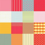 Colorful seamless patchwork background with different patterns. Stock Photo
