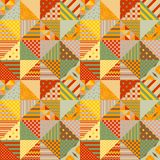 Colorful seamless patchwork pattern. Bright summer design Stock Photos